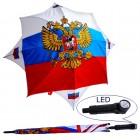 """Regenschirm """"Russland"""" mit LED-Licht, FA-0013"""