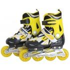 Kinder Inliner Skates ABEC-7 gelb/schwarz Größe: M FIT-14965