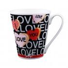 "Kaffee-/Teebecher ""I love you"" schwarz 400 ml KU-200104"