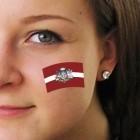 "Fan-Tatoo (Tätowierung-Aufkleber) ""Latvia"""