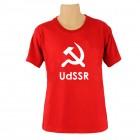 """T-Shirt mit Schriftzug in englisch: """"UdSSR""""/ mit Hammer und Sichel/ rot"""