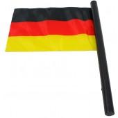 Flagge Deutschland mit Hymne, ca. 30 x 20 cm, FL-33435