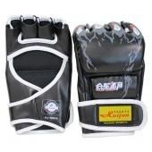 Sporthandschuhe aus Kunstleder schwarz FIT-14916