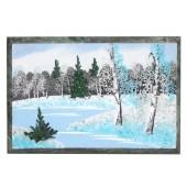 Malerei auf Stein / Tischdeko, 8,5x10x0,8 cm, DS-14615