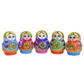 "Matrjoschka ""Blumen"" 5 Puppen H-9,5 cm MA-17835"