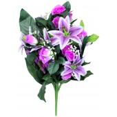Künstlicher Blumenstrauß lila-weiß BL-18396