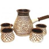 """Keramik Kaffeeset """"Ost"""" 5 teilig KW-0034"""