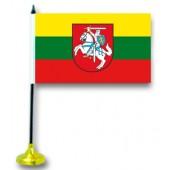 """Tischflagge """"Litauen"""", mit Ständer FA-0027"""