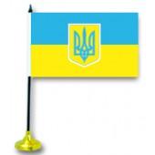 """Tischflagge """"Ukraine"""", mit Ständer FA-0032"""