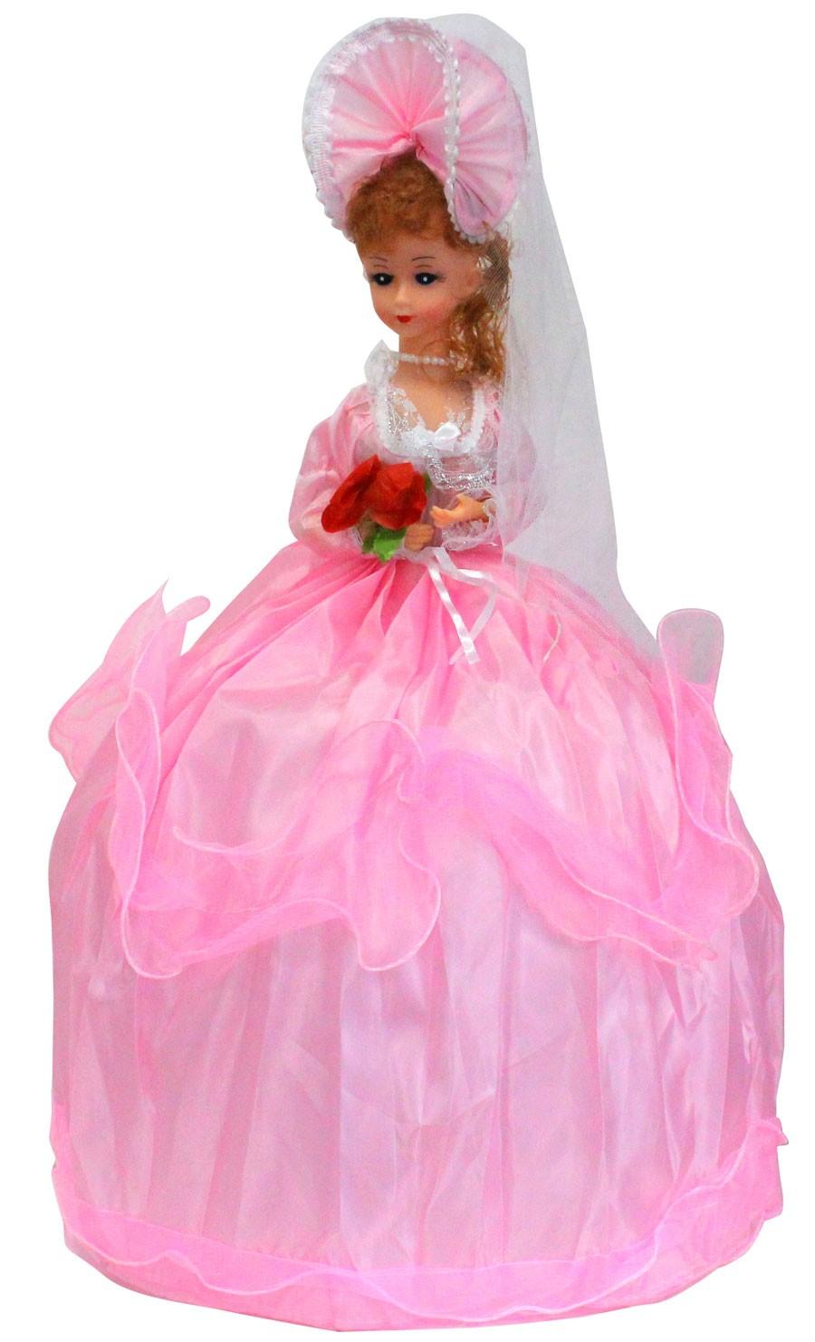 puppe im rosanem kleid ca 50 cm sp 21066 gro handel. Black Bedroom Furniture Sets. Home Design Ideas
