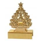 Beleuchtete Weihnachtsdekoration aus Holz 1 LED, H-11 cm SF-54827