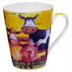 """Kaffee-/Teebecher """"Kleine Kuh"""" gelb 400 ml"""