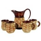 "Keramik-Set ""Weinstock"" 5 Teile NSH-5737"
