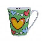 """Kaffee-/Teebecher """"Herz"""" grün 400 ml KU-200100"""