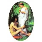 """Magnet """"Malerei"""", ovalförmig, 5 x 8 cm, MA-12995"""