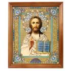 """Ikone """"Gospod' Vsederzhitel'"""" in Holzrahmen, 20,4 x 24,2 cm"""