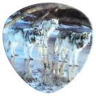 """Magnet """"Wölfe"""", dreieckig, 6 x 6 cm, MA-12925"""