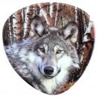 """Magnet """"Wolf"""", dreieckig, 6 x 6 cm, MA-12895"""