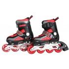 Kinder Inliner Skates mit LED ABEC-9 rot/schwarz Größe: 31-34 S ,F8710S-1