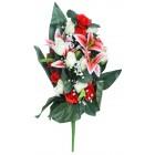 Künstlicher Blumenstrauß rot-weiß