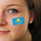 """Fan-Tatoo (Tätowierung-Aufkleber) """"Kasakhstan"""""""