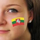 """Fan-Tatoo (Tätowierung-Aufkleber) """"Litauen"""""""
