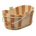 Holz-Eimer für Sauna oval