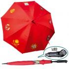 "Regenschirm ""UdSSR´s Wappen"" mit LED- Licht, rot"