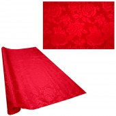 Tischdecke in Rolle,  Stoff, Farbe rot