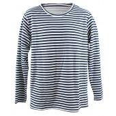 T-Shirt mit blauen Streifen langarm warm gr. 54 TS-32705