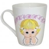 """Kaffee-/Teebecher """"Patenkind Mädchen"""" 480 ml"""