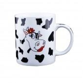 "Kaffee-/Teebecher ""Kuh mit Blümchen"" 400 ml"