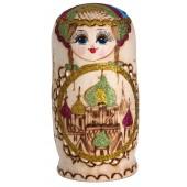 "Matrjoschka ""Kirchenkuppeln"", blau, 7 Puppen, MA-13795"