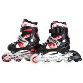 Kinder Inliner Skates ABEC-7 rot/schwarz Größe:31-34 S,F1302