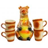 """Keramik-Set """"Kuh"""" 5 Teile KR-1201"""