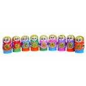 "Matrjoschka ""Blumen"" 5 Puppen H-8,5 cm"