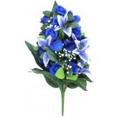 Künstlicher Blumenstrauß blau-weiß BL-18406