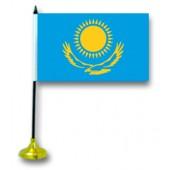 """Tischflagge """"Kasachstan"""", mit Ständer"""