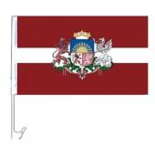 """Autoflagge """"Lettland"""", 30 x 45 cm, FA-0006"""