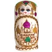 "Matrjoschka ""Kirchenkuppeln"", grün, 7 Puppen, MA-00015"