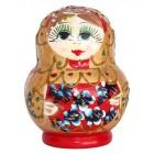"""Матрешка """"Цветы"""", 11 см, красная, 6-кукольная"""