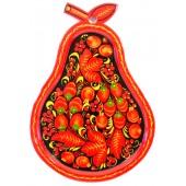 Сухарница в форме груши, хохлома, В-29 см