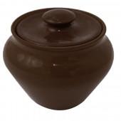 Горшочек пищевой глиняный 0,9 л цвет черный янтарь SB-11714