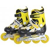 Роликовые коньки детские ABEC-7 желто-черные Размер: M FIT-14965