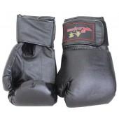 Боксерские перчатки из искусственной кожи черные