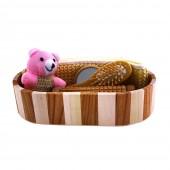 Набор банных принадлежностей 5 предметов в деревянной овальной форме