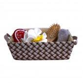 Набор банных принадлежностей 5 предметов корзинке