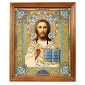 """Икона """"Господь Вседержитель"""", деревянная рамка, 20,4 x 24,2 см"""