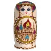 "Матрешка ""Купола"", оранжевая, 7-кукольная, MA-13775"