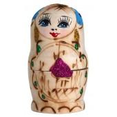 """Матрешка """"Купола"""", 8,5 см, голубая, 5-кукольная, MA-14225"""